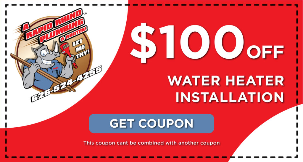 Rapid Rhino Water Heater Installation Coupon