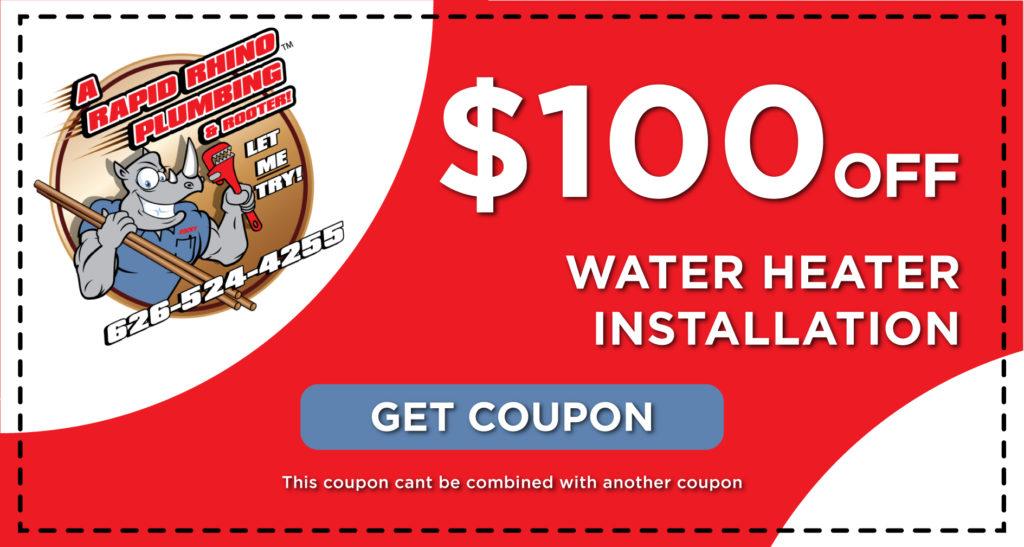 Rapid Rhino Water Heater Installation Coupon